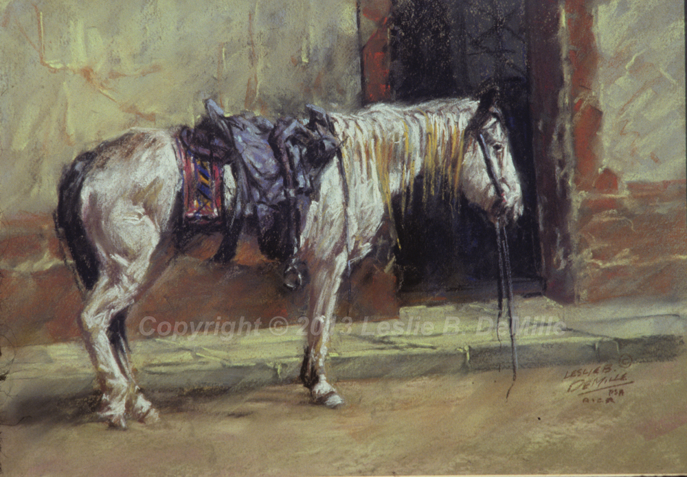Long Wait, Pastel 1987 (14x11)