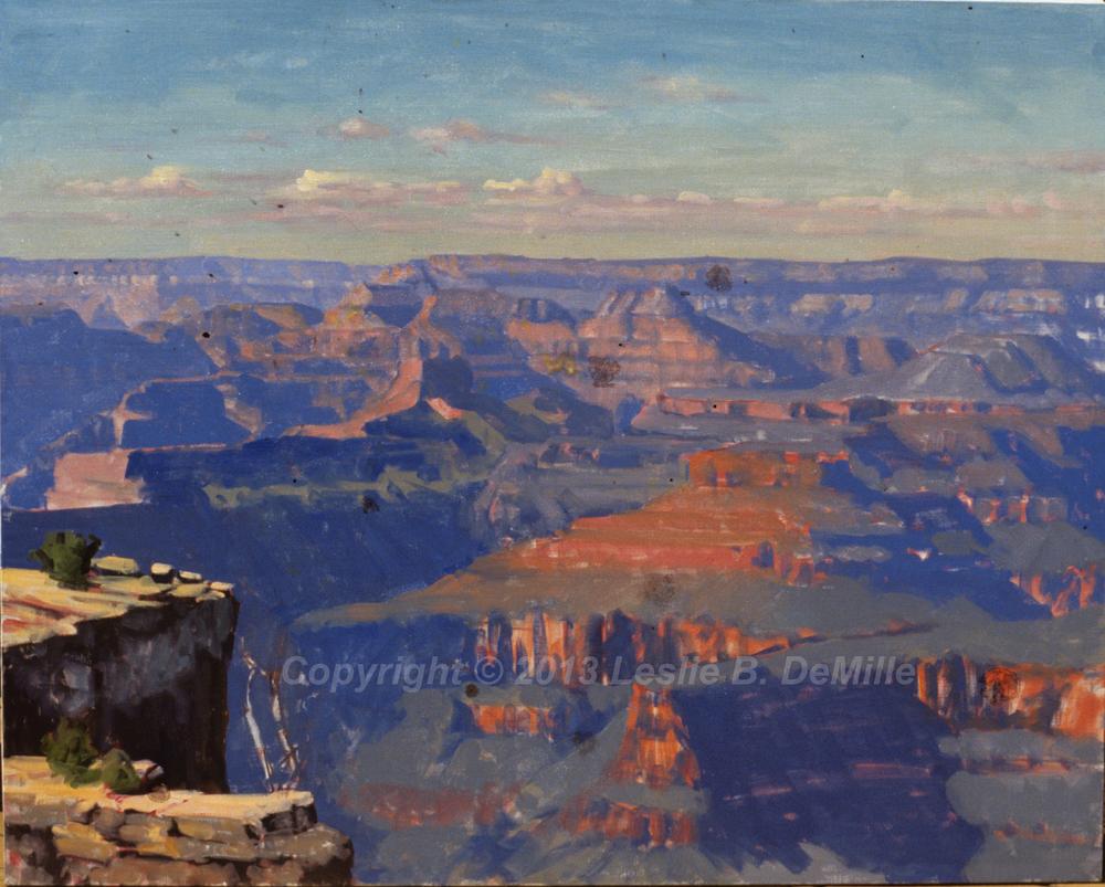 Grand Canyon 2, Pastel (14x11)