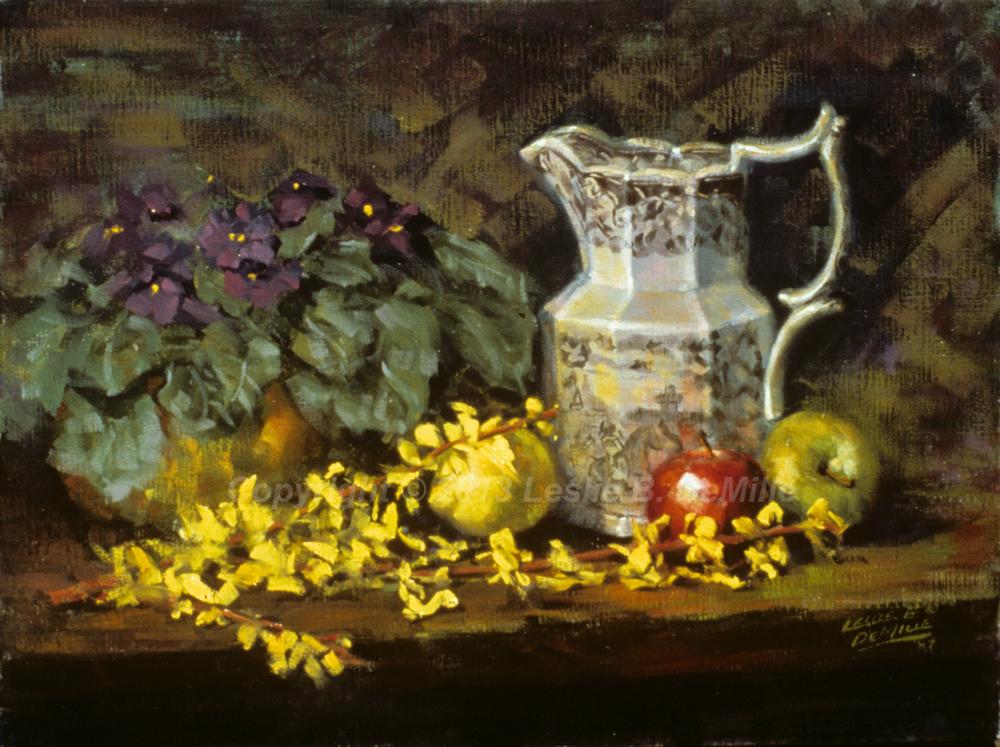 Still Life with Jug, Oil 1987 (14x11)