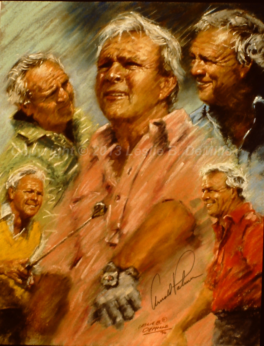 Arnold Palmer: The King, Oil 1994 (11x14)