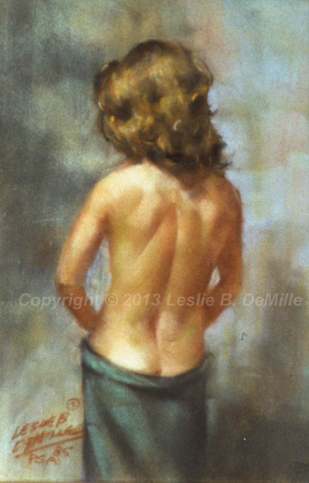Nude Back, Pastel 1985(11x16)