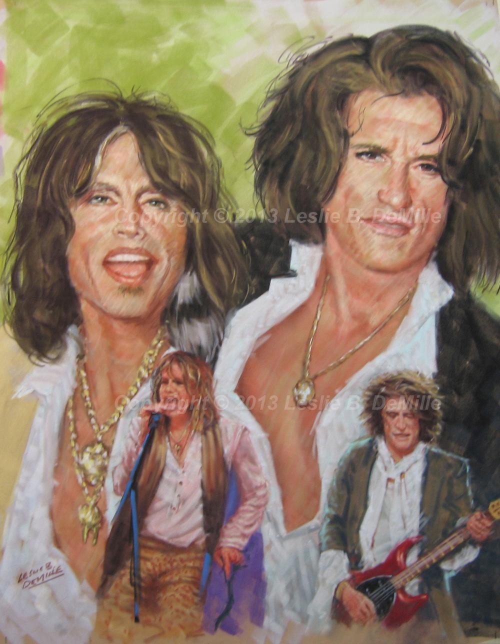 Aerosmith, Pastel (11x14)