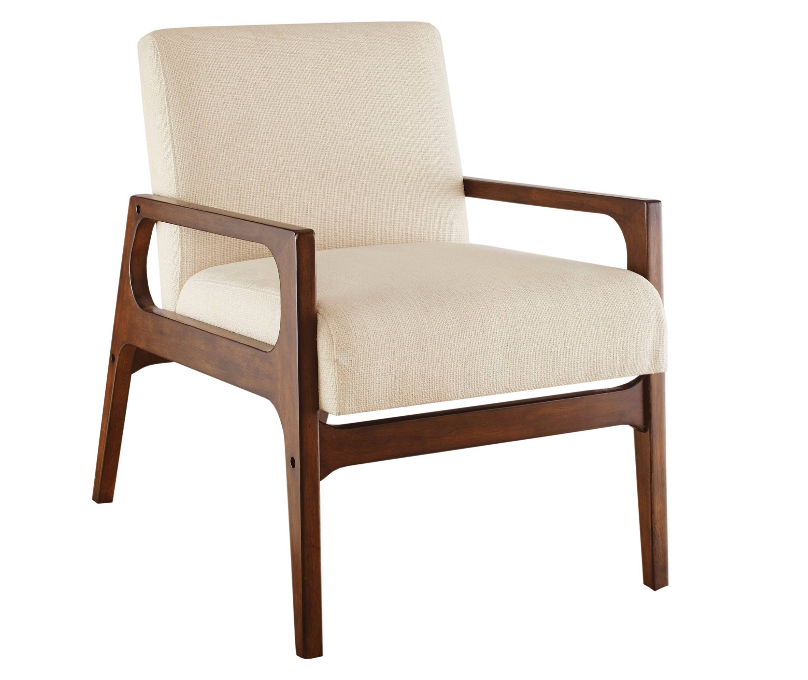 The ivory Emarie chair is perfect lounge seating, available for $150 or as a sofa set. (Inventory includes 3 chairs)