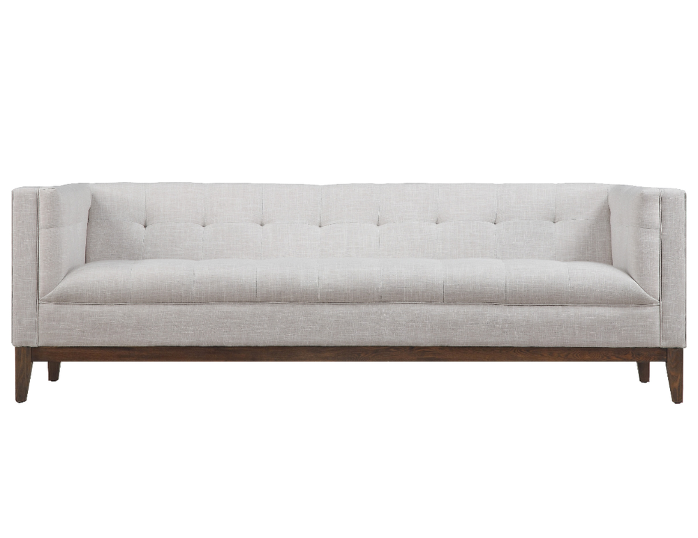 Our ivory Marlowe sofa is chic and timeless.(Inventory includes 7 sofas which can be rented for $350 each or as a lounge set for $600)