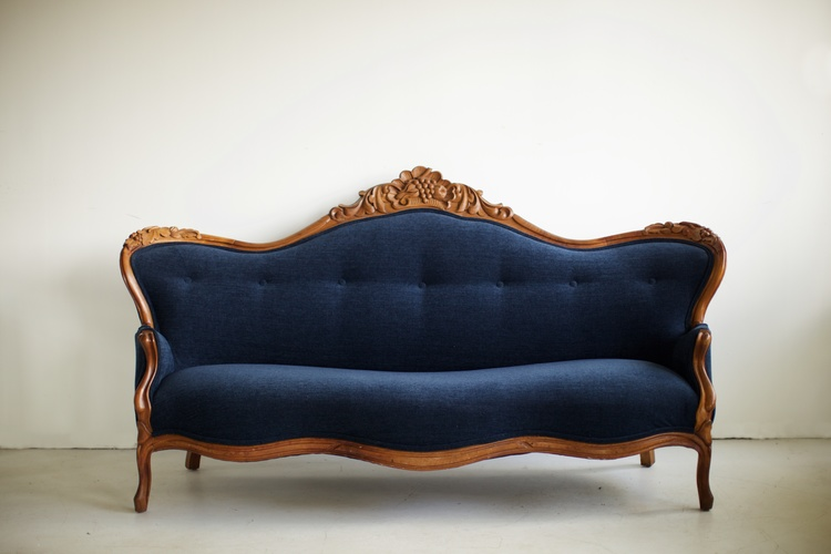 Katelyn Vintage Sofa Signature Boutique Event Rentals Maui Hawaii