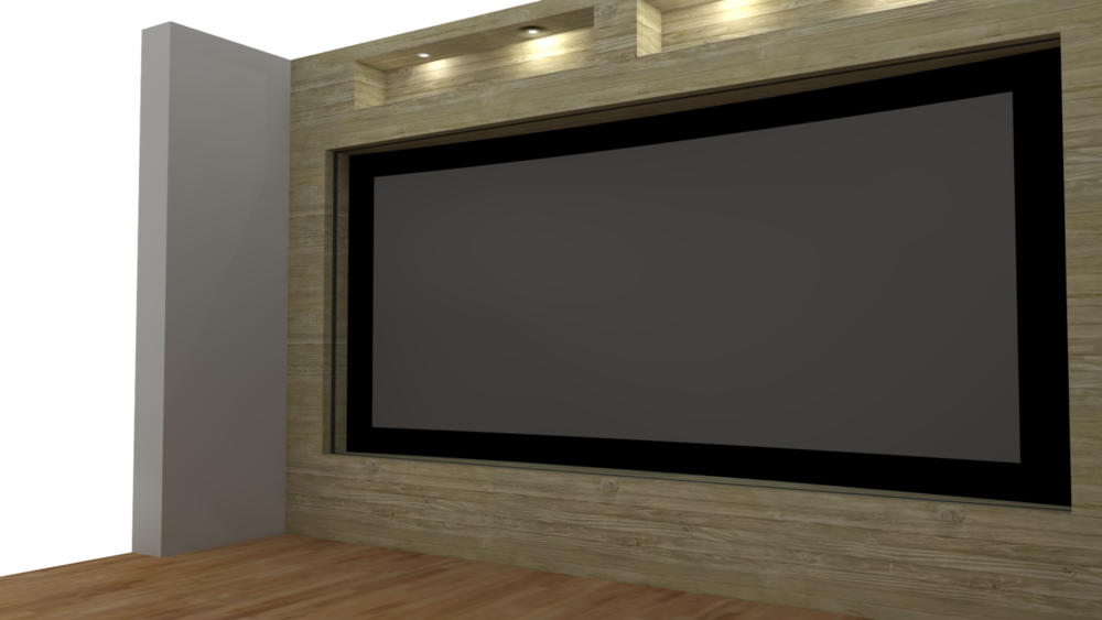 Another 3D render of the projection screen.
