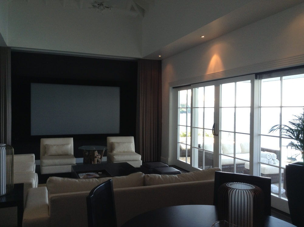Another view of the Living Room. The view from the large windows is of the Caribbean Sea, fifty feet away.