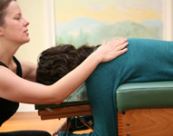 face down chiropractic adjustment