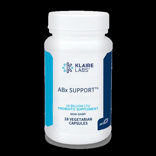 Klaire Labs ABx Suport Probiotic  (28 capsules)
