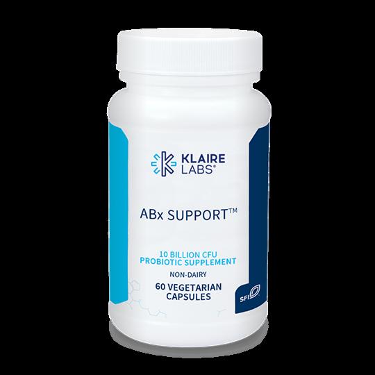 Klaire Labs ABx Suport Probiotic  (60 capsules)