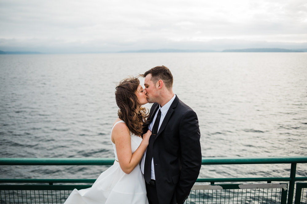 Courtney + Cameron | WA State Ferry Wedding