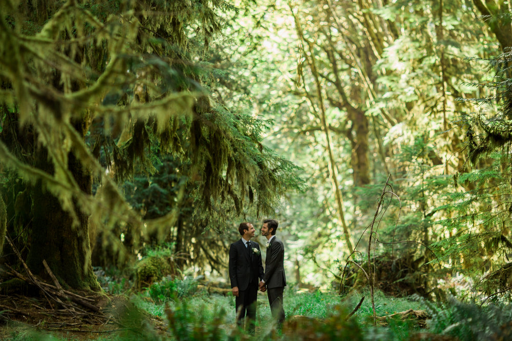 Daniel + Geoffrey | Lake Crescent Wedding