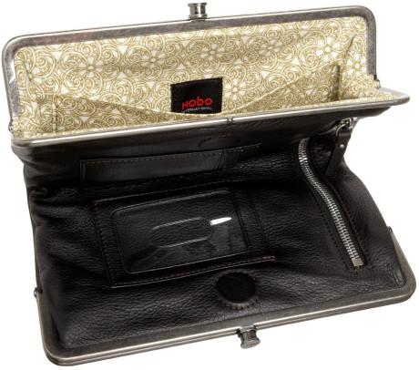 hobo international black hobo lauren double frame clutch - Double Frame Clutch Wallet
