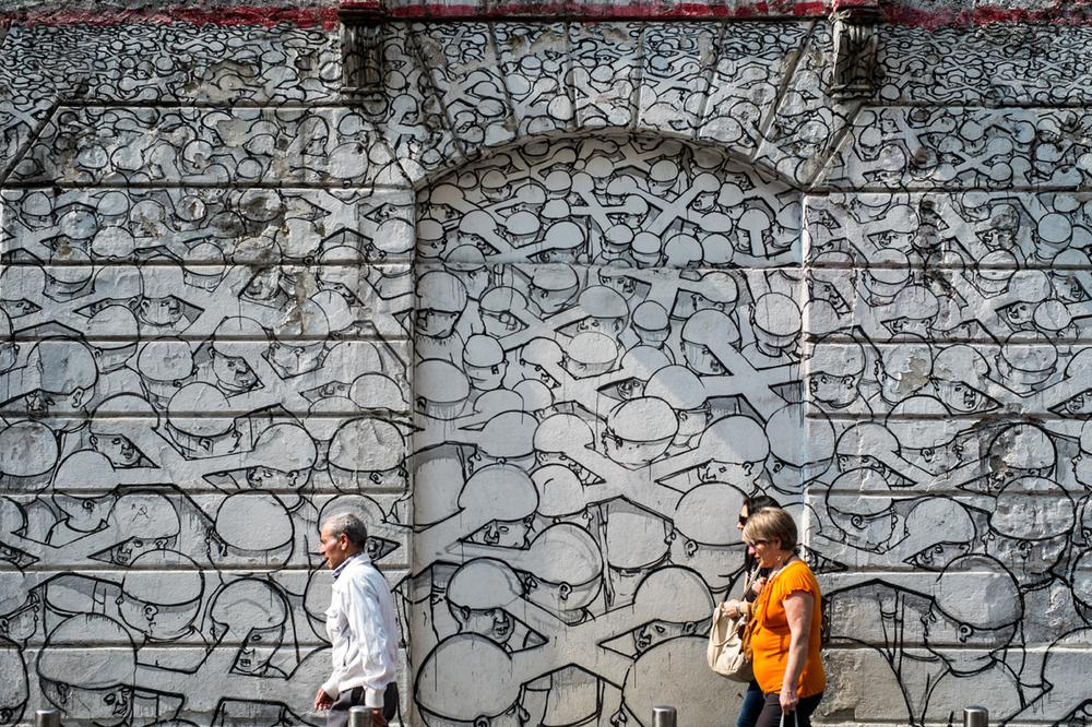 Mural by  Blu .