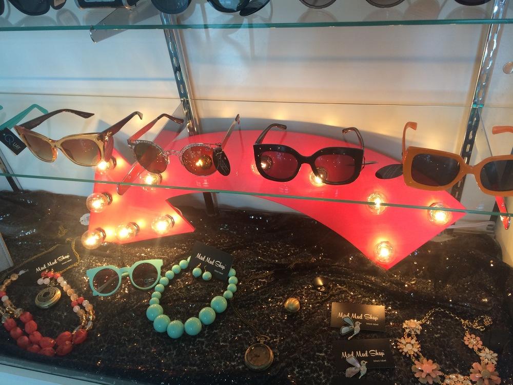 Unique sunglasses and accessoriesfor the retro glam babes.