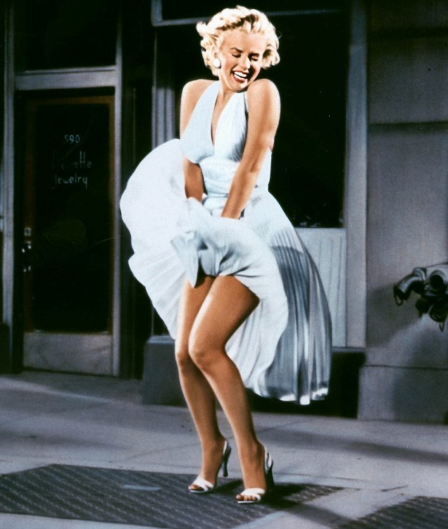 Wind + dress = only fun in the movies.