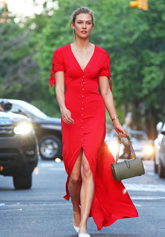 Lady in red always gets attention, but too bright for a wedding!