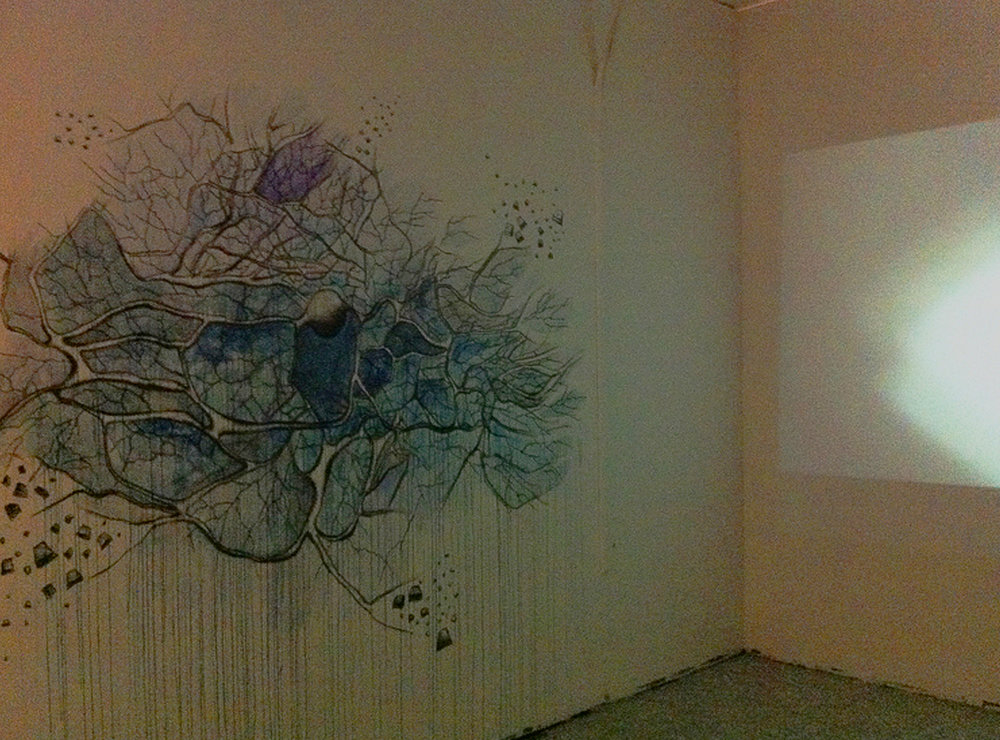 Mural paintings that represent each part of brain (left::Seoyoung Bae, right:: Amritha Berger)