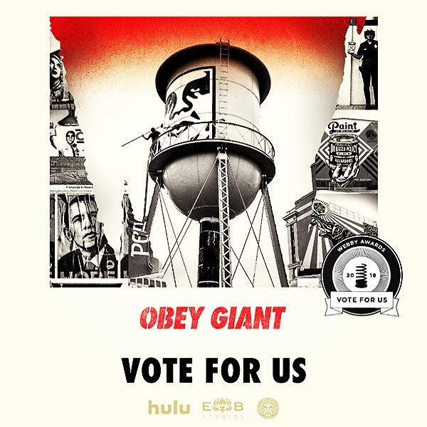 Voting for the WEBBY AWARDS ends tomorrow! CAST YOUR VOTE HERE: wbby.co/vid-doculong  THANKS!! #Webbys #hulu #obeygiant #shepardfairey #tcalandrello #twistedpumpkin #streetart #artist #documentary