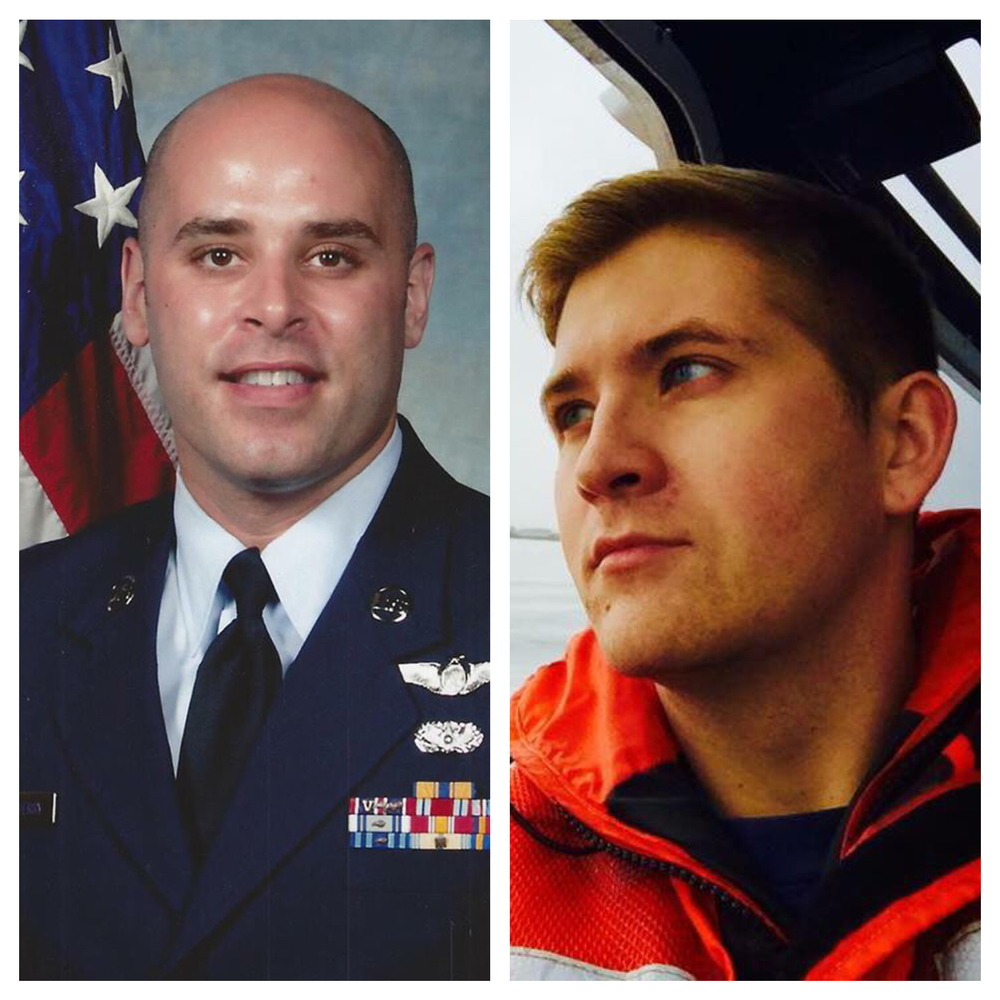 Adam Goldsberry, Air Force, and Jerrett Mefford, Coast Guard, looking good at work