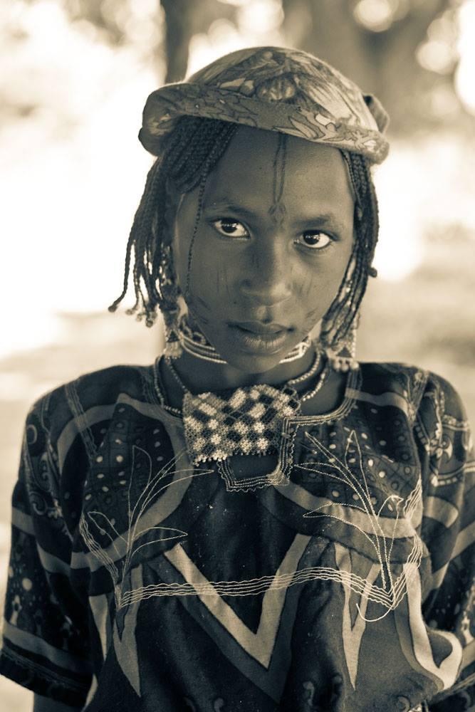 Retrato niña mbororo