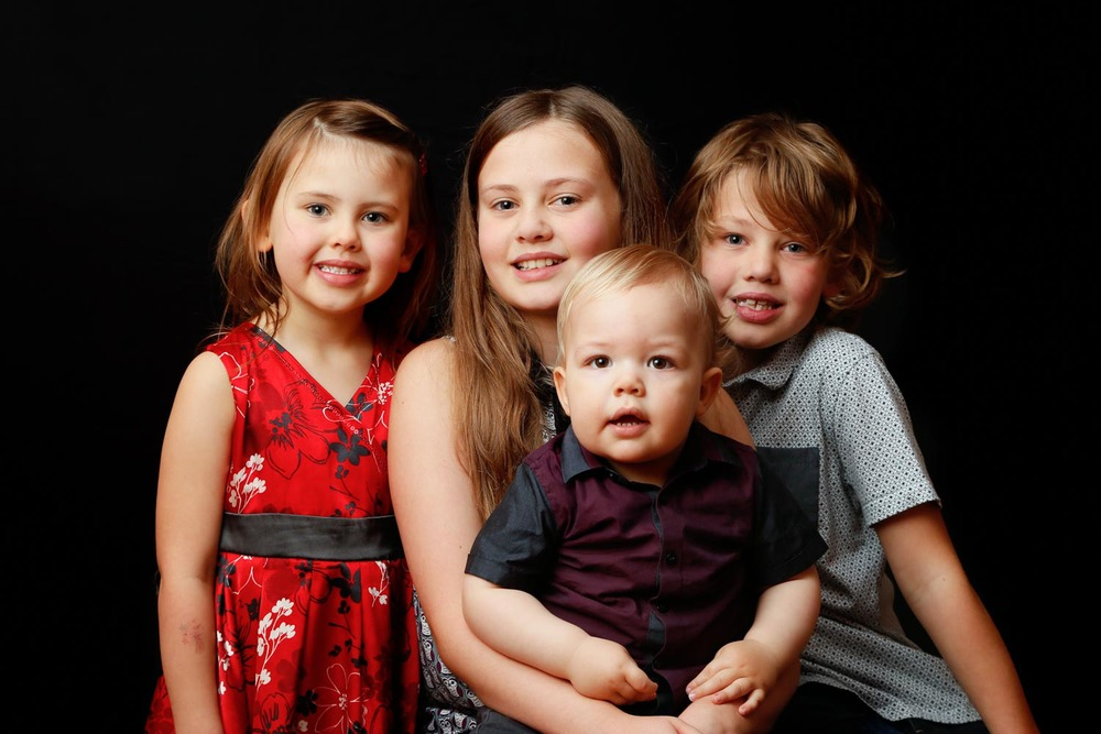 Evie, Christy, Sonny and Leighton