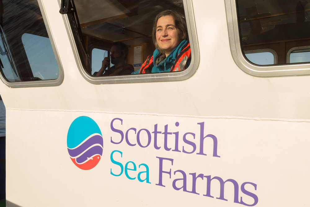 Julie Hesketh-Laird, Chief Executive of the Scottish Salmon Producers Organisation (SSPO)