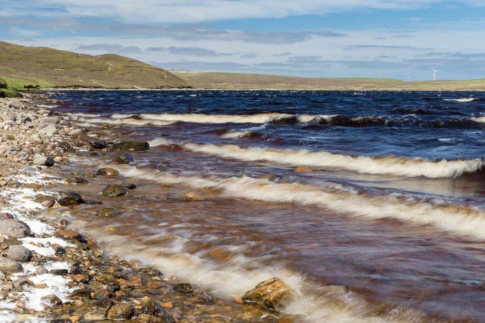 Sandy Loch, Lerwick, Shetland Islands.