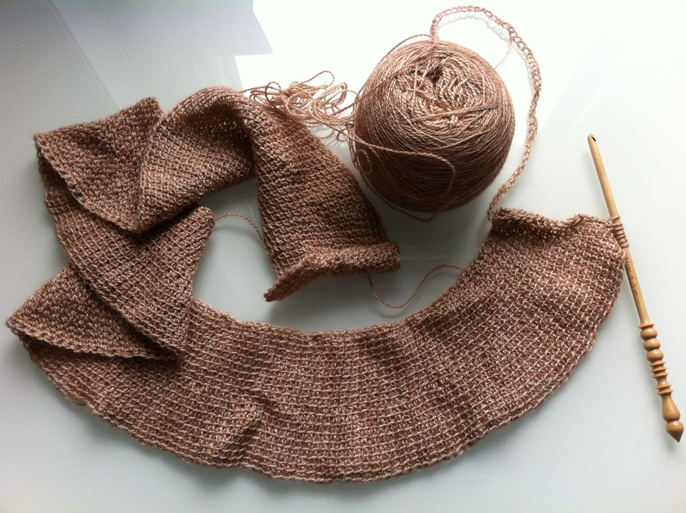 This neutral shawl is going to be a perfect summer accessory!