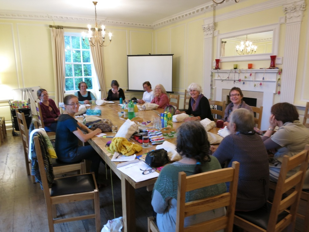 Class gets underway with the delightful Amy Singer from Knitty