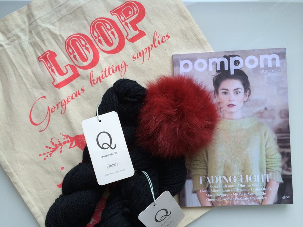 Loop has new bags! And I'm excited to try Quince & Co's gorgeous wool - it feels so light!