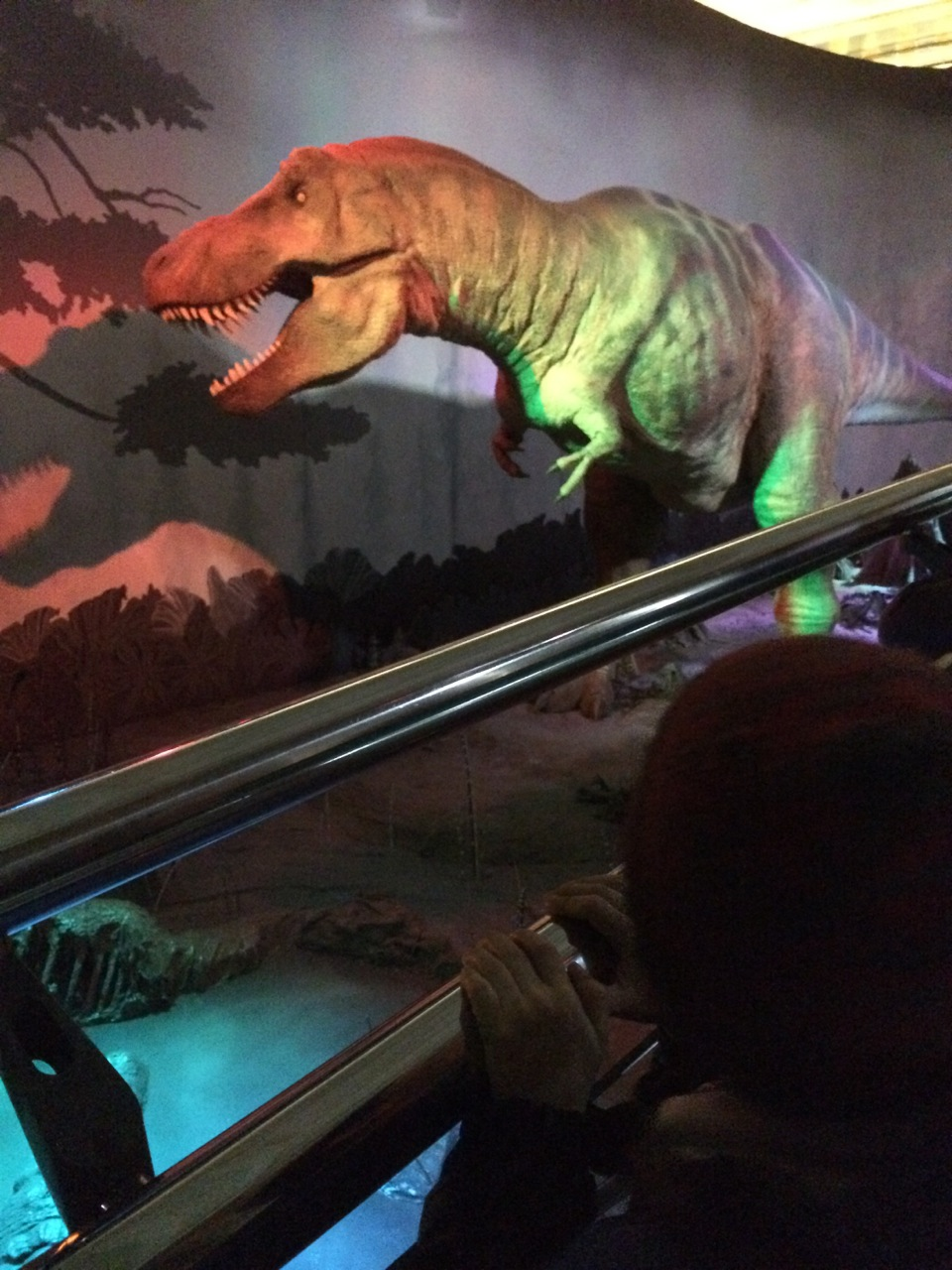 This animatronic T-Rex is a highlight of the exhibit, except for maybe the smallest children