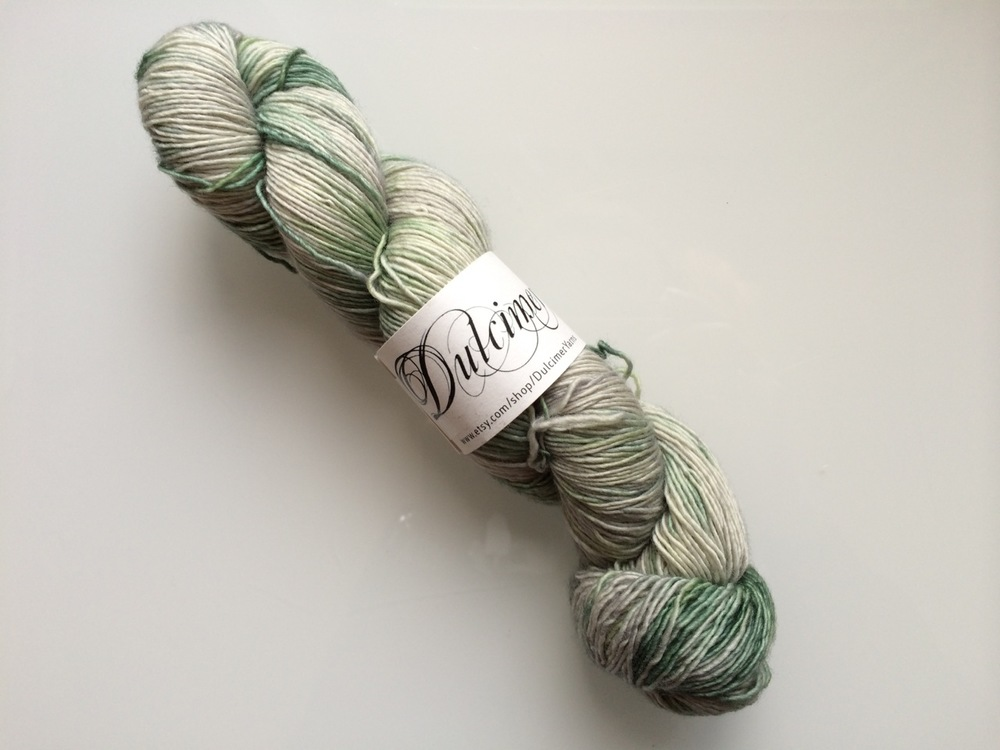 I love the subtlety of colour in this French hand-dyed yarn.