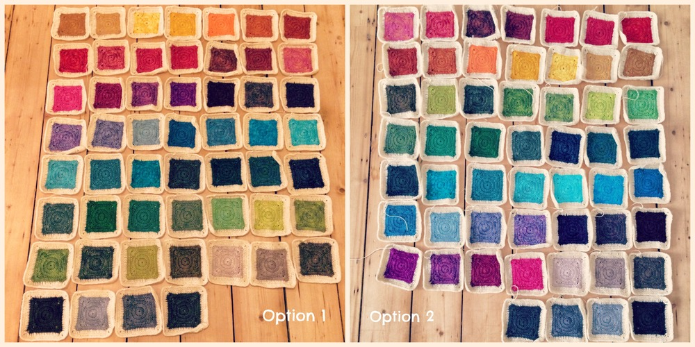 My blanket layout options. I've tweaked the colours here so they show up a little better in the image.