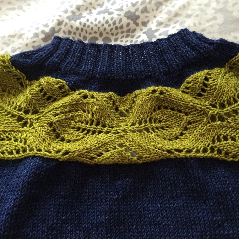 Close up of the lace yoke - isn't it fabulous?