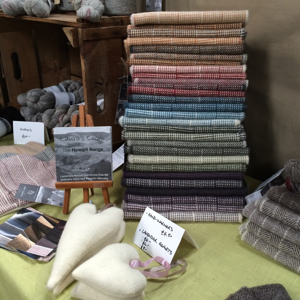 Beautiful woven scarves from Laura's Loom.
