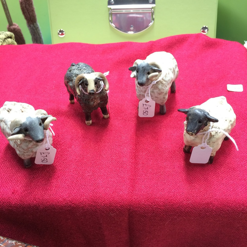 I squee-ed when I saw these lovely vintage sheep.