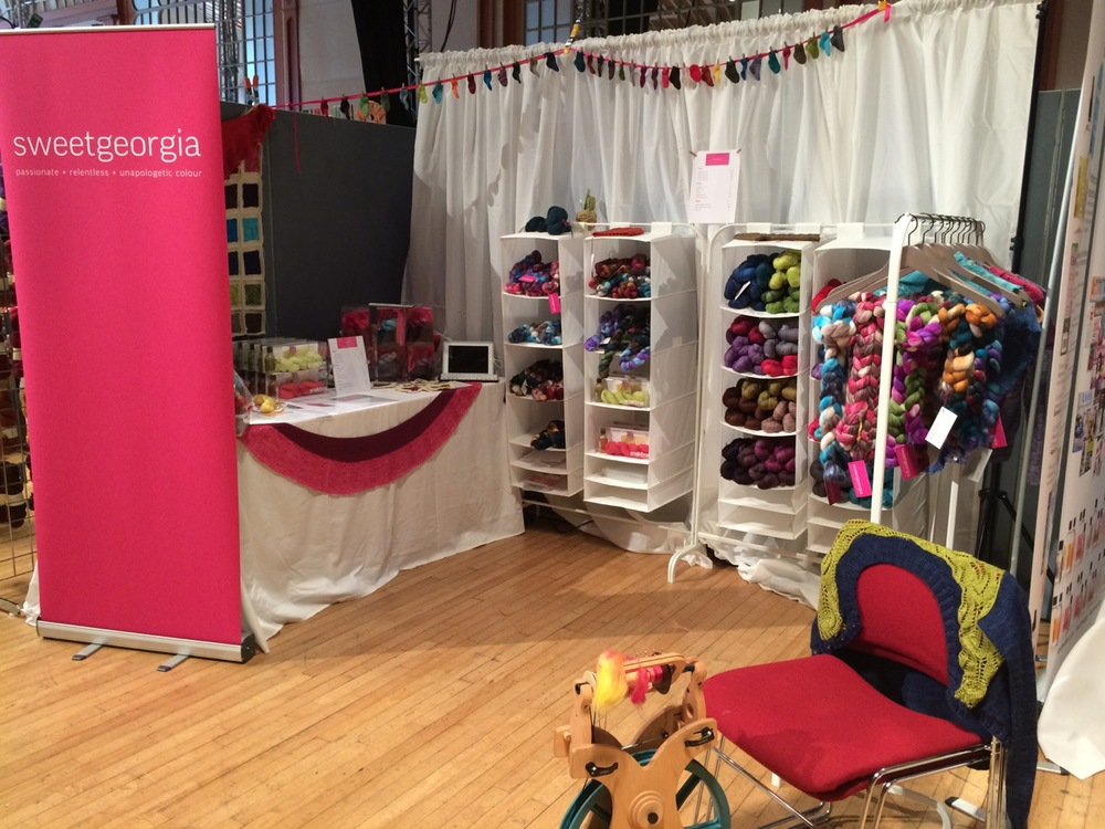Our colourful Unwind Brighton booth ready for visitors!