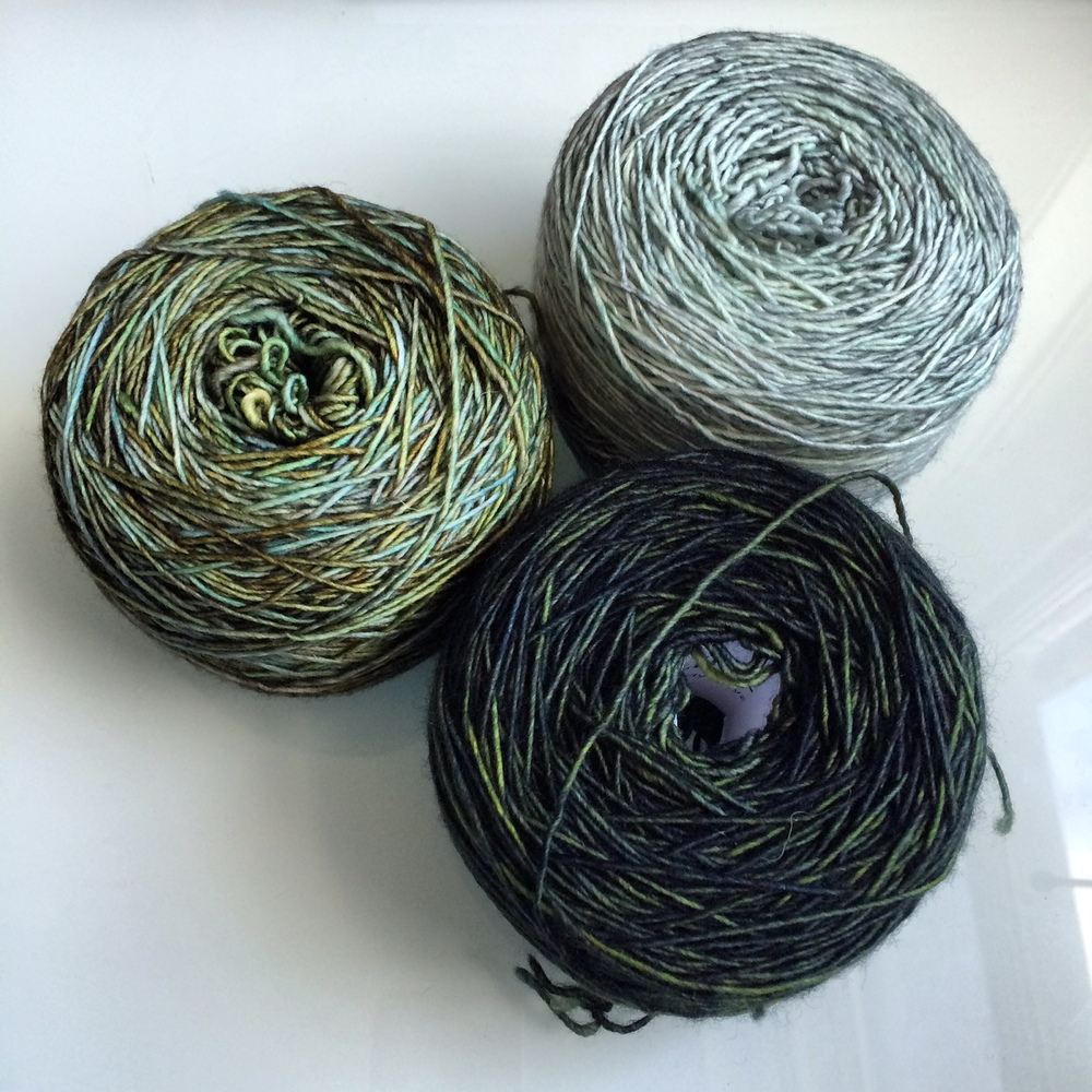 Madelinetosh, patiently waiting to be turned into a Color Affection shawl.
