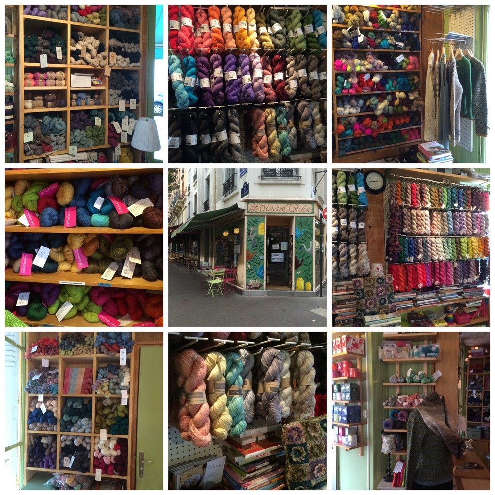 The lovely yarns at L'Oisive Thé et Tricot - this shop is a MUST if you're ever in Paris