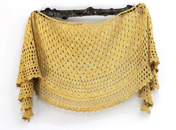 The Pebble Beach Shawlette by Helen Stewart of Curious Handmade. Photo courtesy of Kettle Yarn Co.