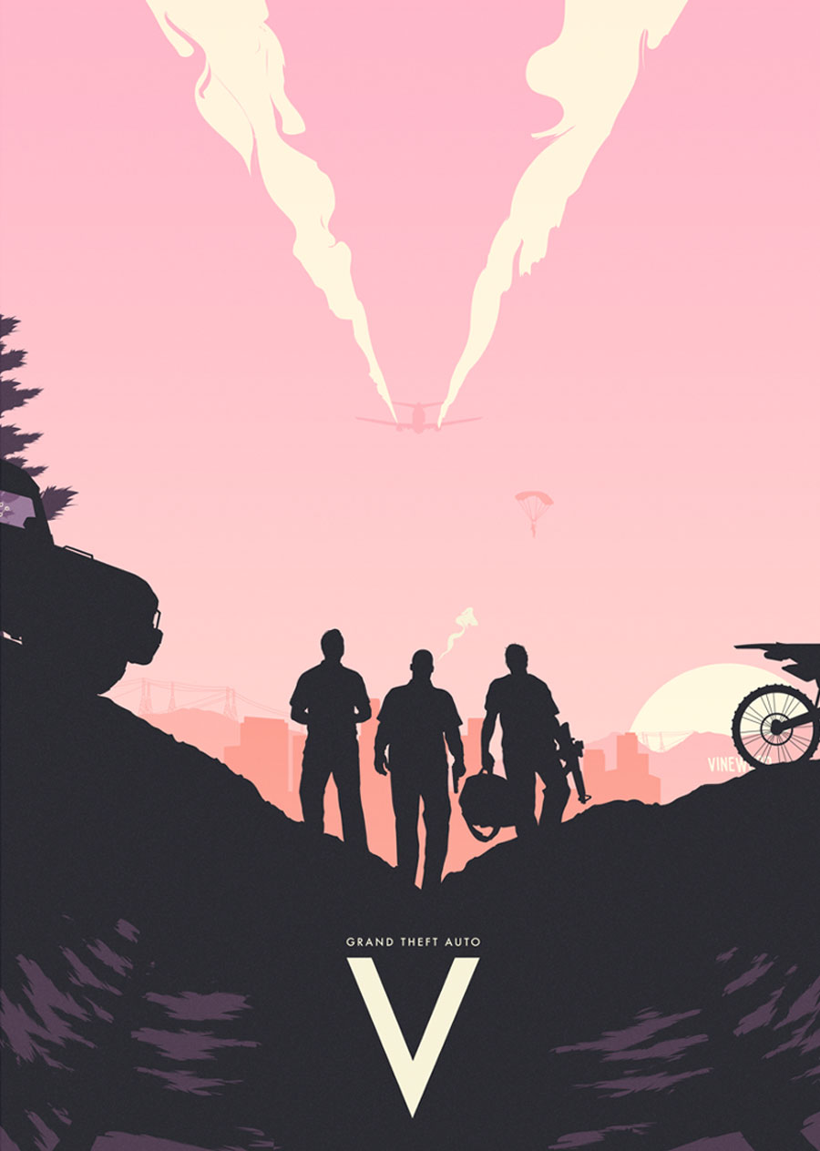GTA V, designed by  Mikael Westman