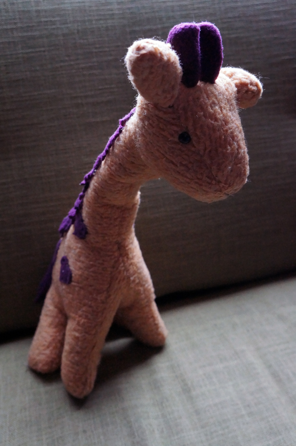 stuffed giraffe profile