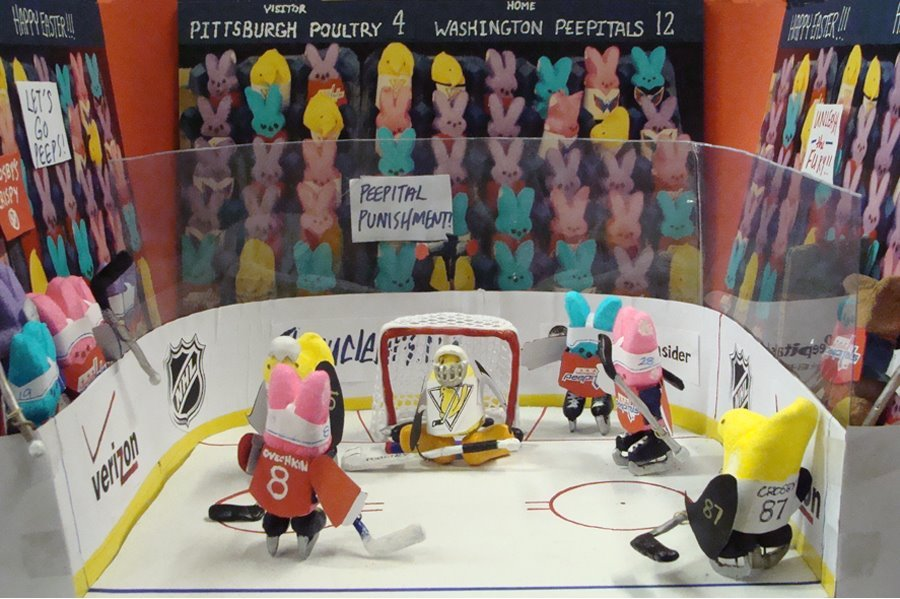 Washington Peepitals peeps diorama