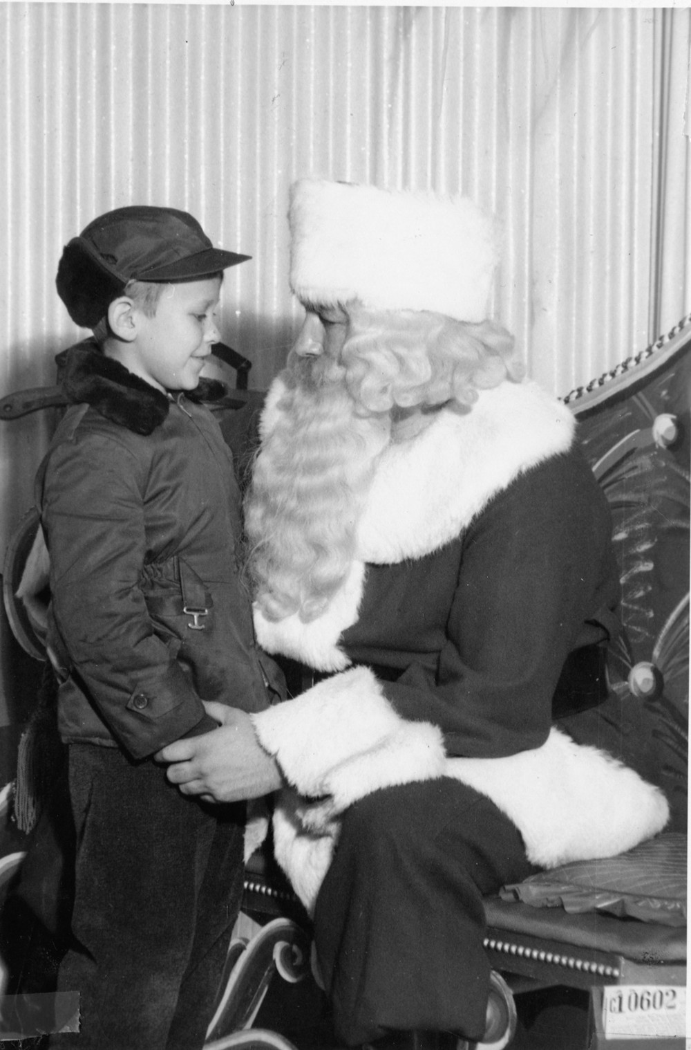 my dad Bill with Santa