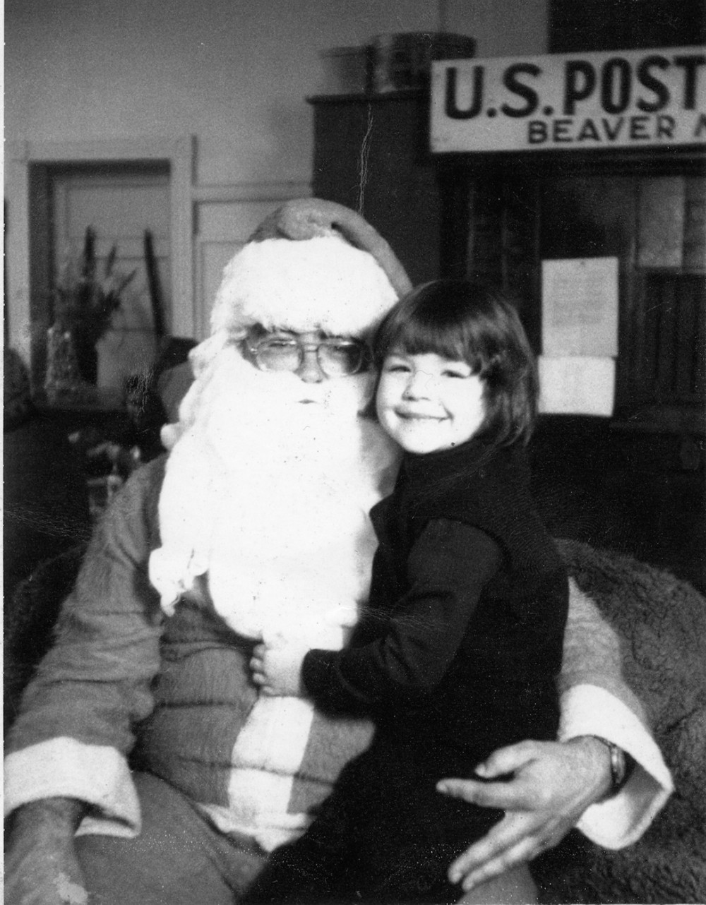 Me with Santa Age 6