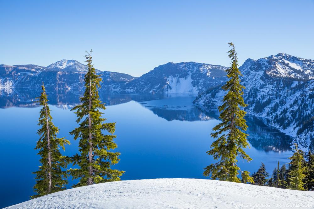 Crater Lake Oregon Winter Snow #1140