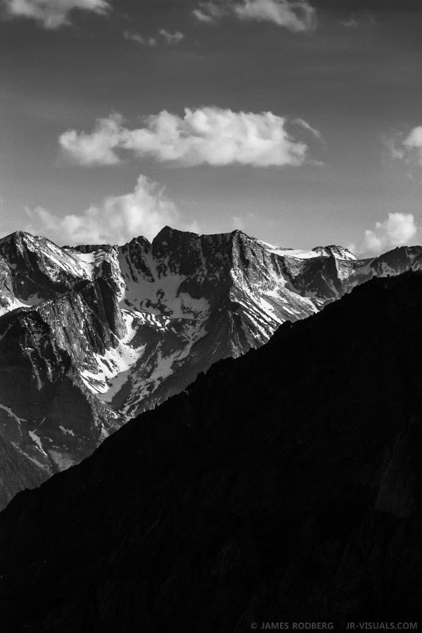 Eastern Sierra Nevada Mountain Range b&w #6628-2