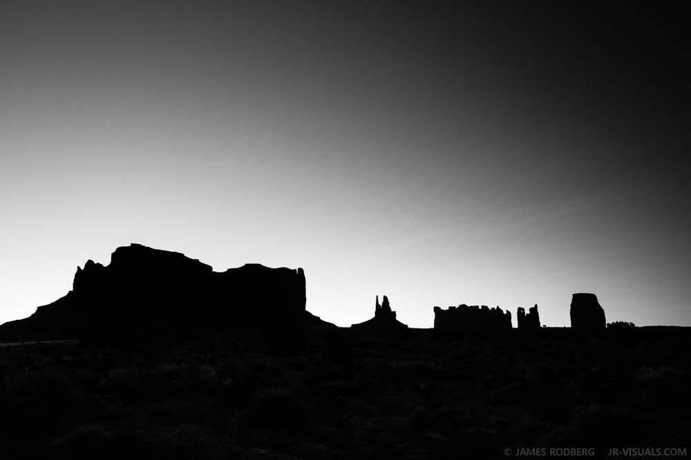 Monument Valley Silhouette Dawn Utah Arizona #3475