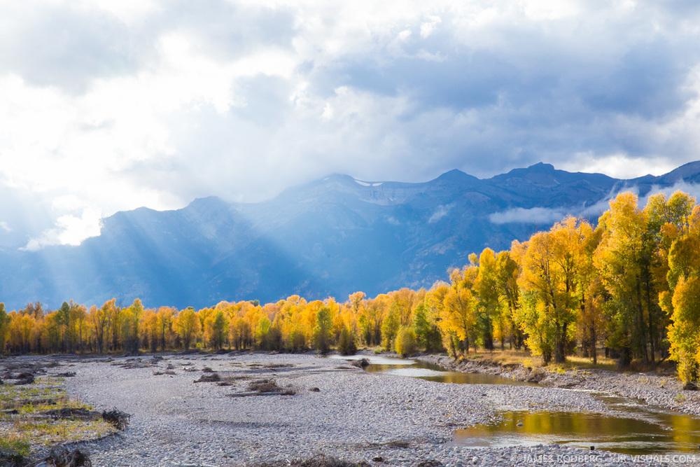 Tetons Mountains Fall Color River #1899